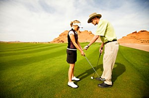 golf instruction for a beginner